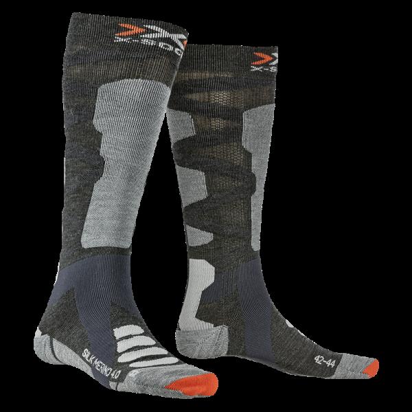 X-SOCKS Ski Silk Merino 4.0 Anthracite Melange/Grey Melange