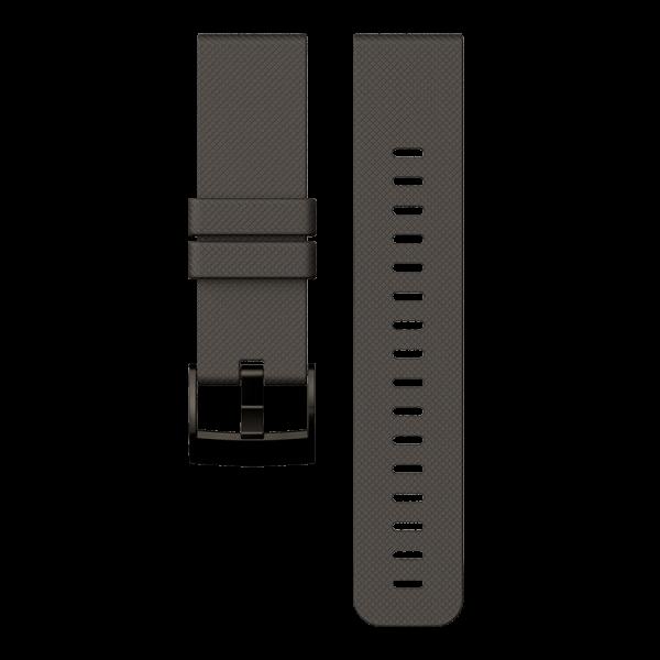 SUUNTO TRAVERSE Graphite Silicone Strap Armband