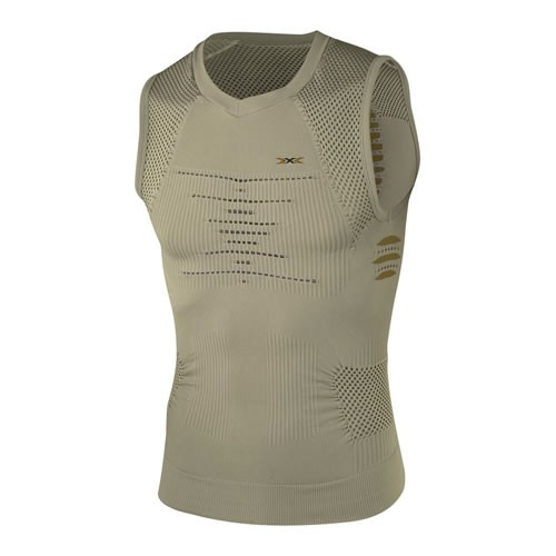 X-BIONIC Trekking Singlet Men Natural/Olive Green