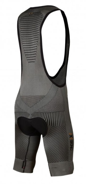 X-BIONIC Fennec Bike Bib Tight Short Anthr./Silver