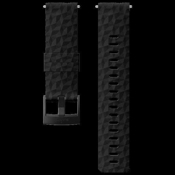 SUUNTO 24 mm Explore 1 Silicone Strap Black/Black