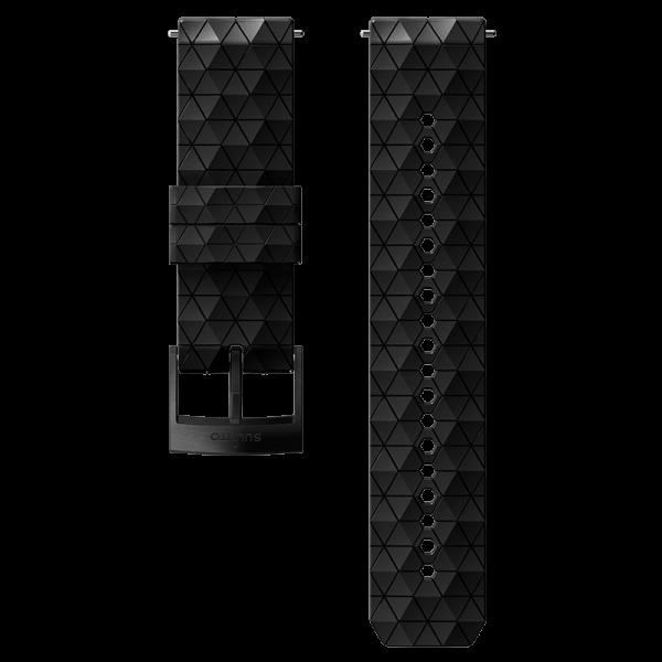 SUUNTO 24 mm Explore 2 Silicone Strap Black/Black