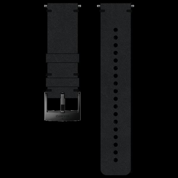 SUUNTO 24 mm Urban 2 Leather Strap Black/Black
