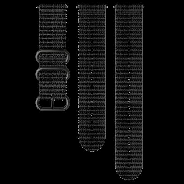 SUUNTO 24 mm Explore 2 Textile Strap Black/Black