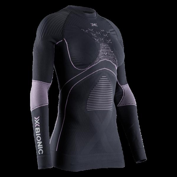 X-BIONIC Energy Accumulator 4.0 Shirt Round Neck L/S Women Charcoal/Magnolia