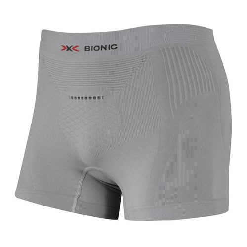 X-BIONIC Trekking Boxer Shorts Men Pearl Grey/Red