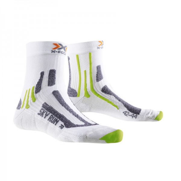 X-SOCKS Sky Run V2.0 Socken White/Green Lime