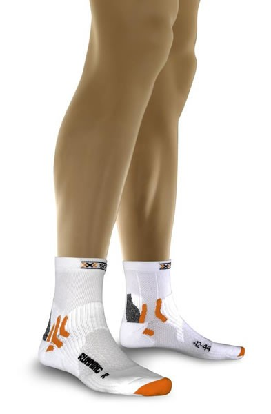 X-SOCKS Running Short Socken White/Silver