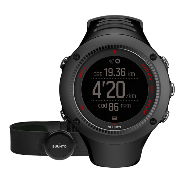 SUUNTO AMBIT3 RUN Black HR GPS-Pulsuhr