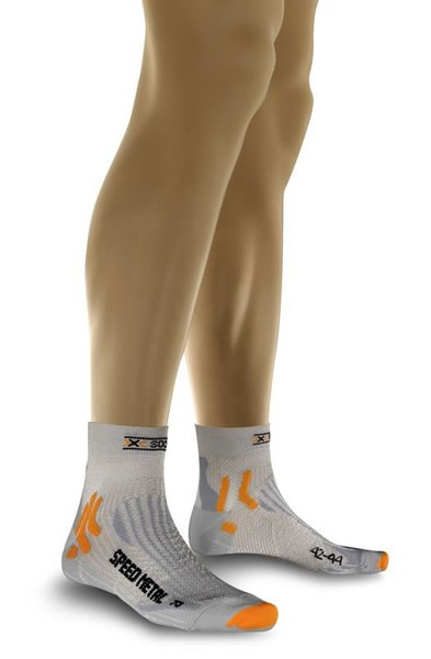 X-SOCKS Run Speed Metal Socken Silver/Light Grey