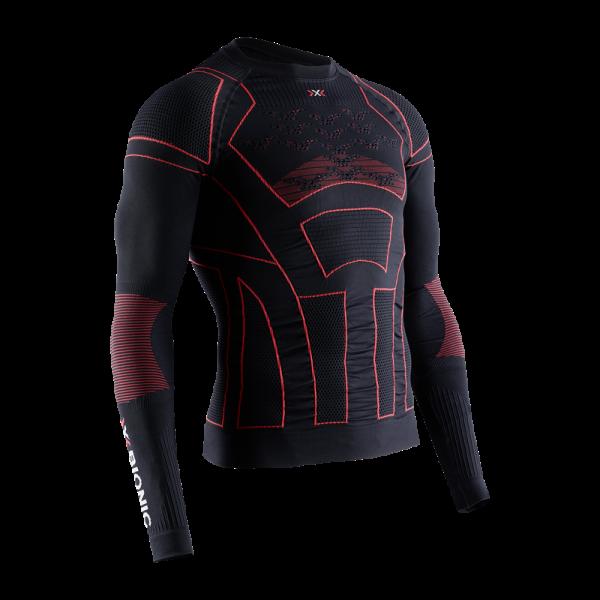 X-BIONIC Moto Energizer 4.0 Shirt L/S Opal Black/Signal Red