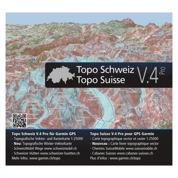GARMIN TOPO Schweiz/TOPO Suisse V4 PRO