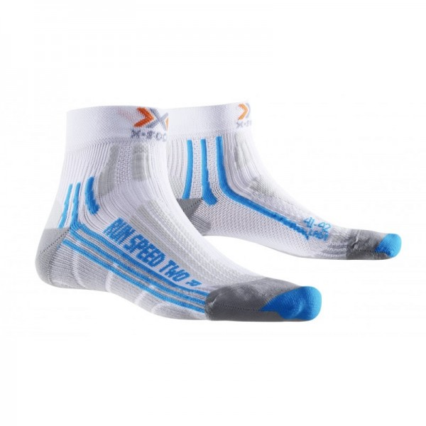 X-SOCKS Run Speed Two Socken Lady White/Turquoise