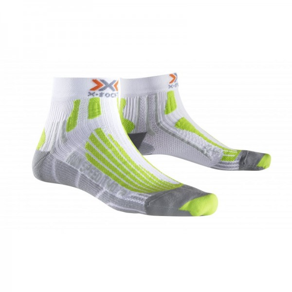 X-SOCKS Run Speed Two Socken White/Green Lime