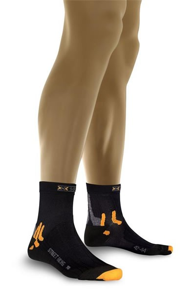 X-SOCKS Mountain Biking Short Socken Black