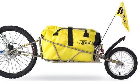 BOB Ibex Einradanhänger mit gelbem Packsack