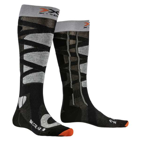 X-SOCKS Ski Control 4.0 Anthracite Melange/Stone Grey Melange