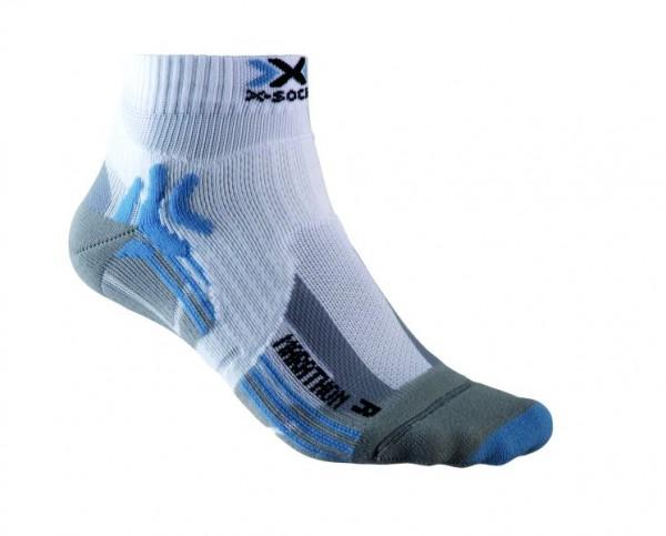 X-SOCKS Run Marathon Socken Women White/Sky Blue