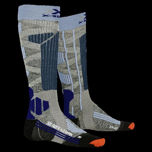 X-SOCKS Ski Rider 4.0 WMN Stone Grey Melange/Mineral Blue