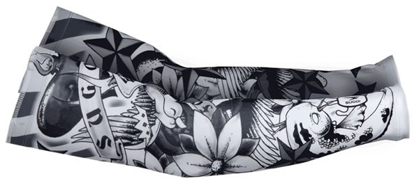 SUGOi Tatu Armlinge, Tattoo Arm Warmer Black/White