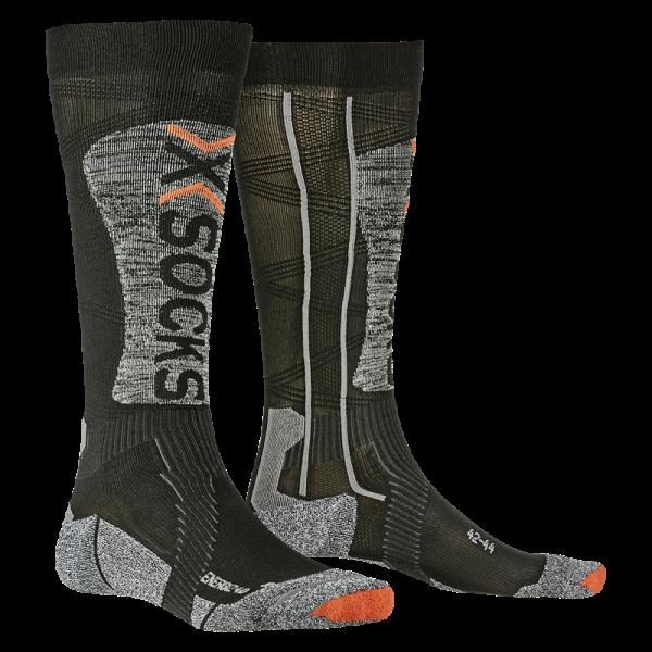 X-SOCKS Ski Energizer LT 4.0 Black/Stone Grey Melange