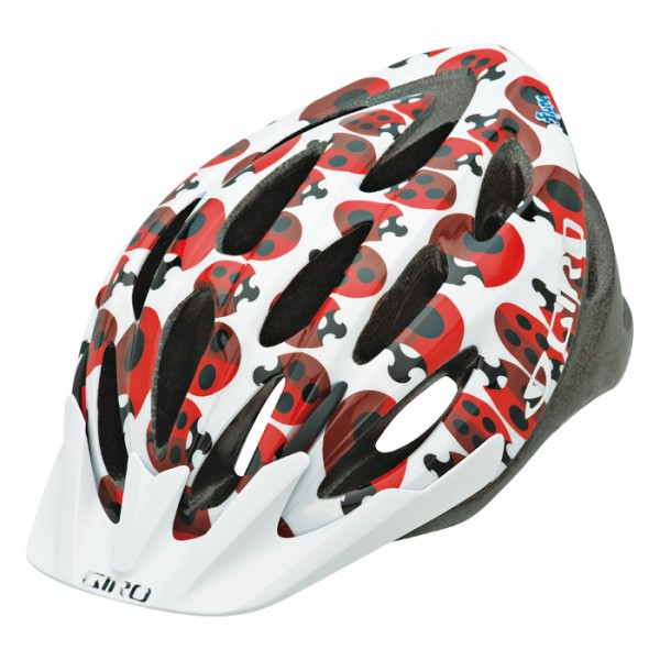 GIRO Velohelm Flume, Red/White Elanor Ladybugs
