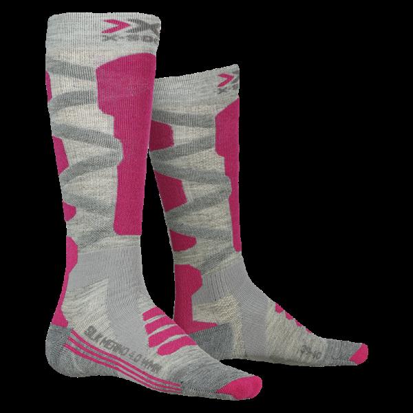 X-SOCKS Ski Silk Merino 4.0 WMN Grey Melange/Pink