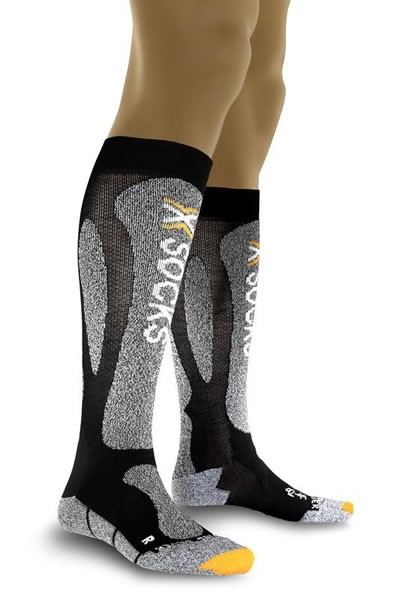 X-SOCKS Ski Carving Silver Black/Grey Melange