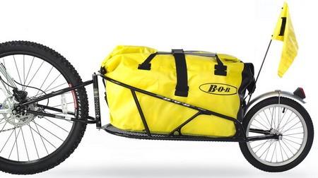 BOB Yak Einradanhänger mit gelbem Packsack