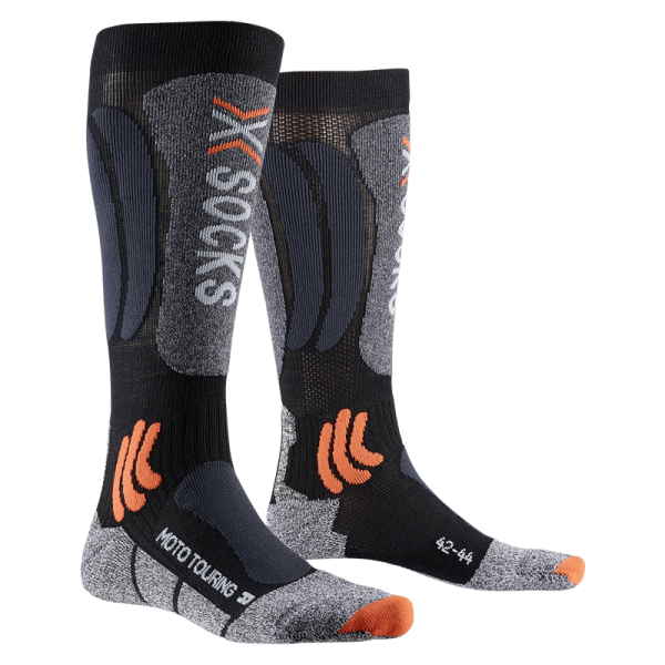 X-SOCKS Moto Touring Long Socken Black/Anthracite