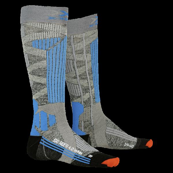 X-SOCKS Ski Rider 4.0 WMN Stone Grey/Turquoise