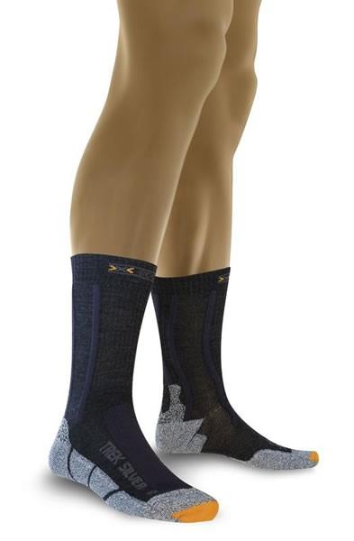 X-SOCKS Trekking Silver Socken Black/Anthracite