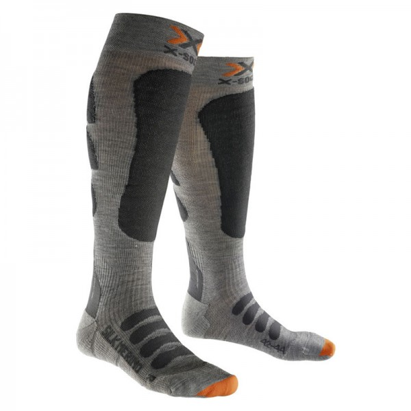 X-SOCKS Ski Silk-Merino Grey/Anthracite