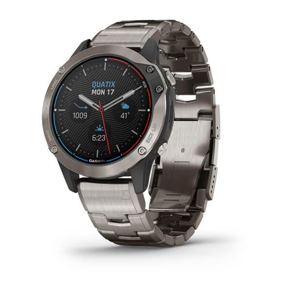 GARMIN quatix 6 Titanium Gray GPS Marine-Uhr